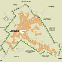 plan Dépliant écomusée de la Haie - Châtillon en Dunois (28)