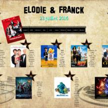 Plan de table Mariage théme Hollywood et Cinéma