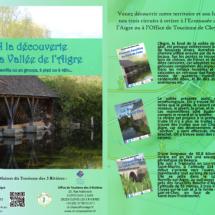 Dépliant à la découverte de la Vallée de l'Aigre - Maison du Tourisme des Trois Rivières (28)